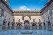 Court of the Madrasa Bou Inania in Fez, Morocco, Africa — Stock Photo
