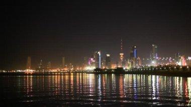 Kuwait City at night — Stock Video