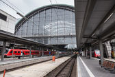 FRANKFURT - DEC 6: Main Train Station in Frankfurt. December 6, 2014 in Frankfurt Main, Hesse,  Germany — Stockfoto