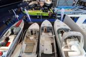 Boot Duesseldorf 2015 - the worlds biggest yachting and water sports exhibition. January 25, 2015 in Duesseldorf, Germany — Stock Photo