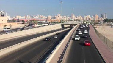 Traffic in Kuwait. Time Lapse Video — Stock Video