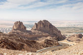 Jebel Hafeet mountains in the outskirts of Al Ain, Emirate of Abu Dhabi, UAE — Stock Photo