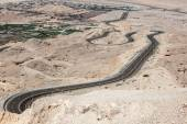 Jebel Hafeet mountain road in the outskirts of Al Ain, Emirate of Abu Dhabi, UAE — Stock Photo