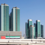 Modern buildings at the Al Maryah Island in Abu Dhabi, United Arab Emirates — Stock Photo #64561313