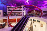 ABU DHABI - DEC 19: Ferrari World Theme Park entrance hall interior. December 19, 2014 in Abu Dhabi, United Arab Emirates — Stock Photo