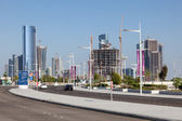 ABU DHABI - DEC 19: New Street and Buildings at the Al Maryah Island in Abu Dhabi. December 19, 2014 in Abu Dhabi, United Arab Emirates — Foto Stock