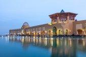 KUWAIT - DEC 8: Al Kout Mall at dusk. Al Kout Mall is a modern shopping mall in Fahaheel, Kuwait. December 8, 2014 in Kuwait, Middle East — Stok fotoğraf