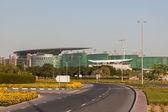 DUBAI, UAE - DEC 13: Meydan Race Club  (former Nad Al Sheba Racecourse) in Dubai. December 13, 2014 in Dubai, United Arab Emirates — Stock Photo