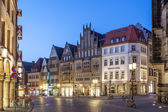MUNSTER, GERMANY- APR 4: Gabled houses on the Prinzipalmarkt in the old town of Muenster. April 4, 2015 in Muenster, North Rhine-Westphalia, Germany — Stock Photo