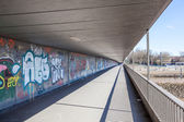 BREMEN, GERMANY - APR 5: Graffiti under the bridge in the city of Bremen. April 5, 2014 in Bremen, Germany — Stock Photo