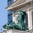 Erato in a quadriga with panthers statue at the Alte Oper building in Frankfurt am Main, Germany — Stock Photo #71107925