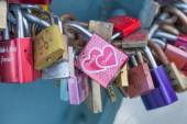 Padlocks of love - symbol for everlasting love and friendship — Stockfoto