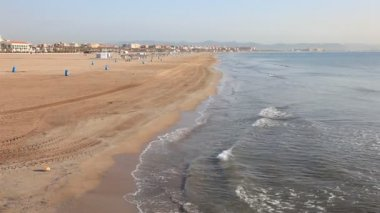 Beach in Valencia — 图库视频影像