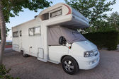 Mobile home on a camping site — Stock Photo