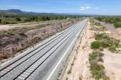 New railway track for high speed trains in southern Spain — Stock Photo
