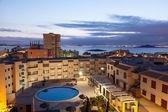 Apartment buildings with pool in La Manga, Murcia, Spain — Stock Photo