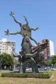 Standbeeld in valencia, Spanje — Stockfoto