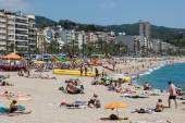 Beach in Lloret de Mar, Spain — Stock Photo