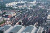 Frankfurt Main railway station — Stock Photo