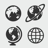 Planet symbol set — Stock Vector