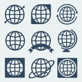 Symbol set Planet — Stock Vector