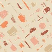 Symbol kitchen pattern — Stock Vector