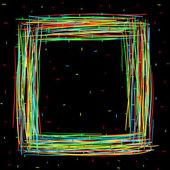 Zwart vierkant frame — Stockvector