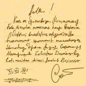 Old handwriting — Vector de stock
