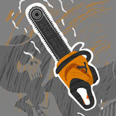 Chainsaw Monster — Stock Vector