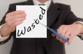 Wasted, determined man healing bad emotions — Stock Photo