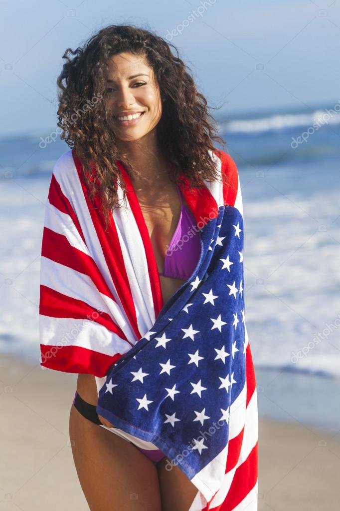 photos of girls jumping wrapped in american flag № 13380