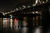 Reflecting Bridge at Night — Foto Stock