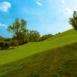 Rolling Green Hill Under Blue Sky — Stock Photo #58234225