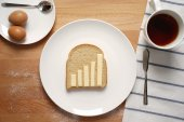 Infographics on the breakfast table — Stock Photo