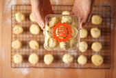 Baking cookies for auspicious reasons — Stock Photo