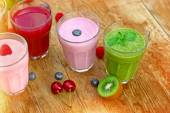 Fresh and healthy organic drinks — Stock Photo