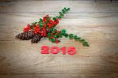 New Year's decoration 2015 — Foto de Stock