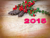 New Year's decoration 2015 — Stock Photo
