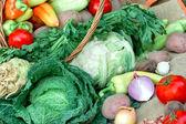 здоровая еда - свежие органические овощи — Стоковое фото