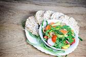 Fresh salad is healthy meal - vegan food — Stock Photo