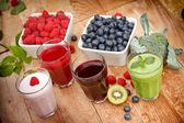 Healthy organic beverages - drinks — Stock Photo