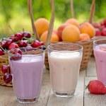 Fruit yogurt (yogurts) — Stock Photo #74931857
