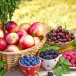 Fresh organic seasonal fruits — Stock Photo #76642019