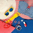 Still Life of Womens Beach Themed Clothing — Stock Photo #55619819