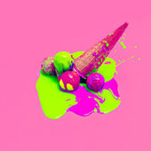 Glamoureuze ijs. Explosie zomer kleuren — Stockfoto