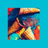 Fake ice cream background. Fashion design photo — Stock Photo