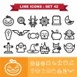 Halloween Line icons set 41 — Stock Vector #57454321