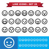 Emotion Line icons set 28 — Stock Vector