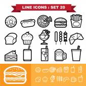 Food icons set 20 — Stock Vector