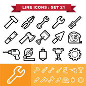 Tools icons set 21 — Stock Vector